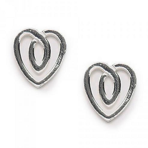 celtic knot heart studs
