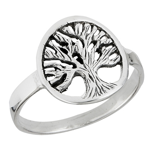 tree of life coin ring