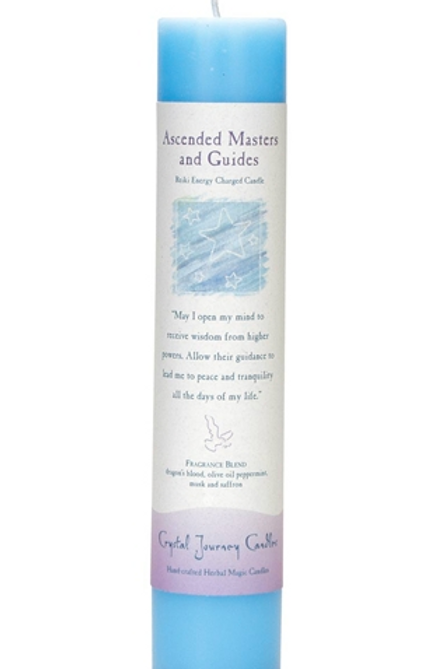 ascended masters + guides - reiki energy charged candle
