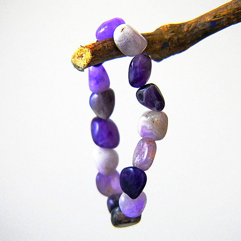chunk amethyst bracelet