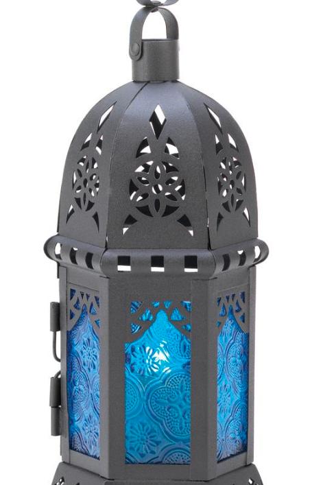 moroccan lantern   cobalt round dome