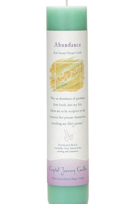 abundance - reiki energy charged candle