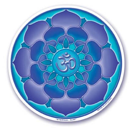 blue lotus | om sticker