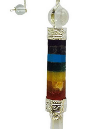 quartz + layered chakra pendulum