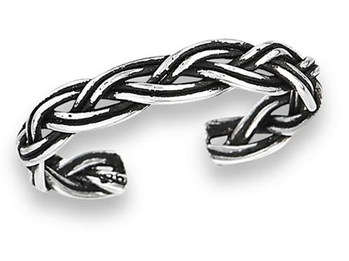 braided  silver
