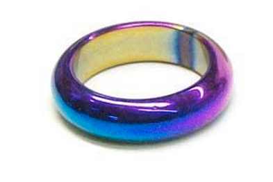 rainbow make-a-wish hematite band