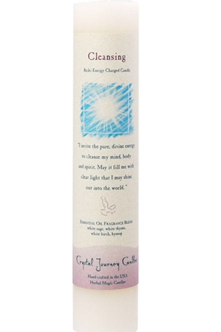 cleansing - reiki energy charged candle