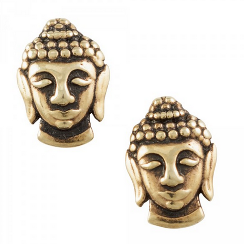 touch of gold | buddha head studs