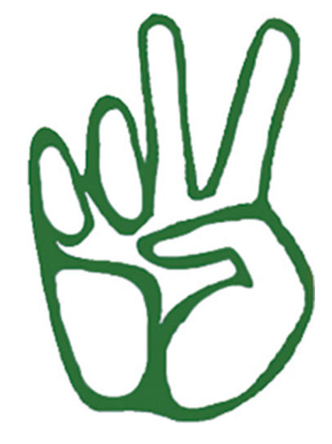 vinyl peace fingers