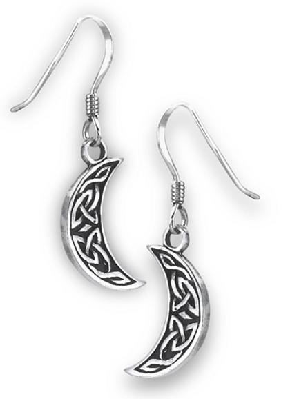 celtic series | cresent moon dangles