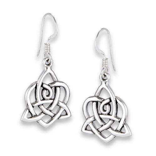 celtic series | triquetra + heart dangles
