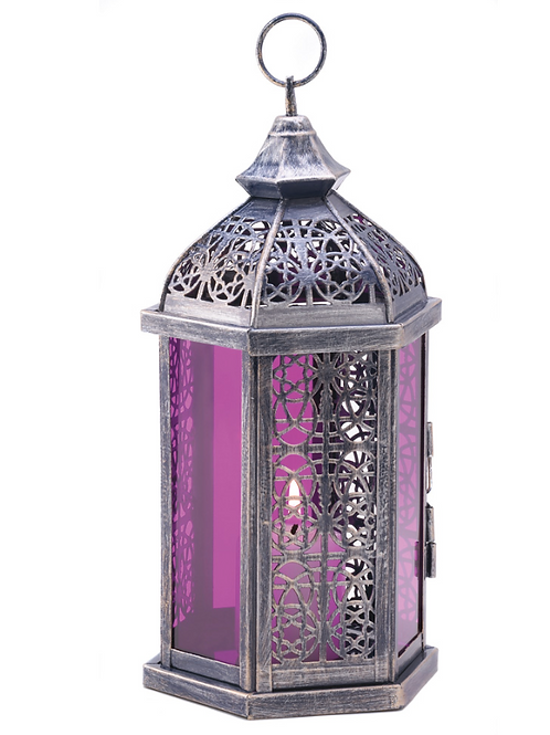 moroccan lantern | violet+panel cut out