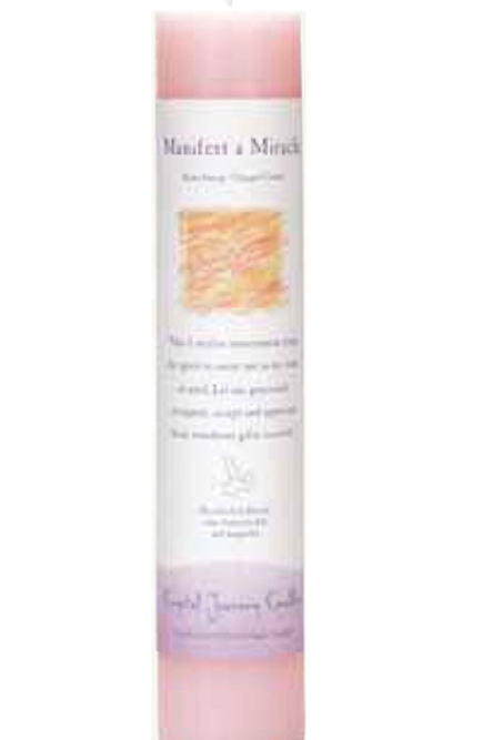 manifest-a-miracle - reiki energy charged candle