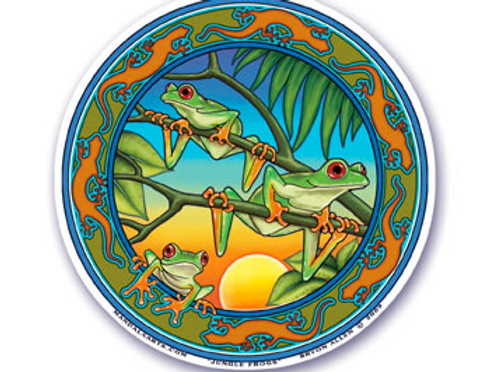 rainforest frogs sticker