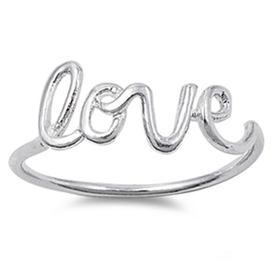 simple series | cursive love ring