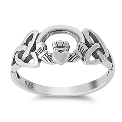 celtic knot + claddaugh ring