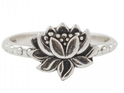 simple series   full bloom lotus ring