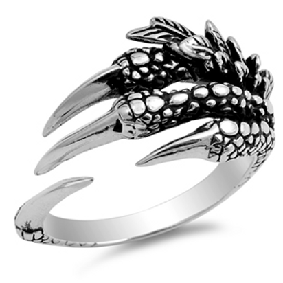 ornate dragon claw ring