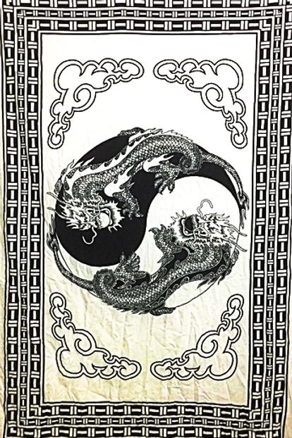 ying yang dragons