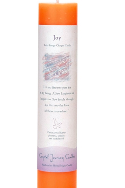 joy - reiki energy charged candle
