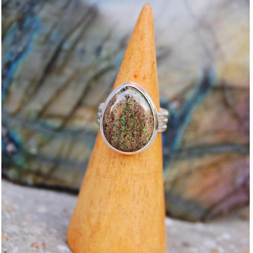 signature series | opalized ammonite ring