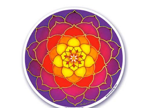 lotus   sunrise sticker