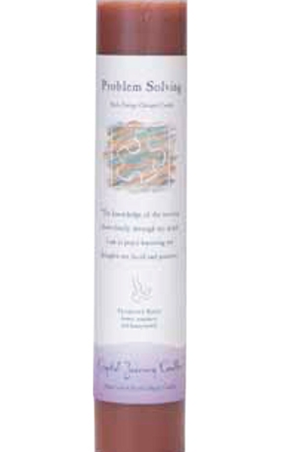 problem solving - reiki energy charged candle