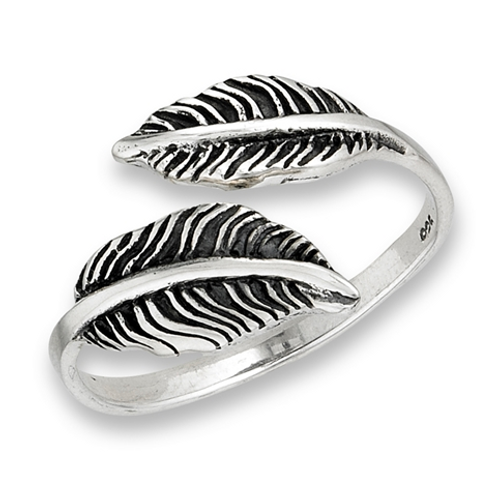 double feather ring adjustable