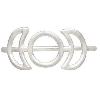 simple series | triple moon ring