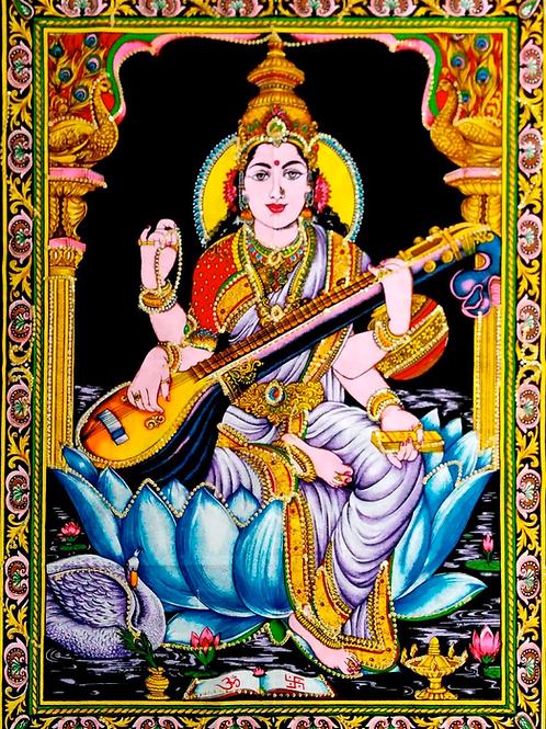 goddess saraswati wall art