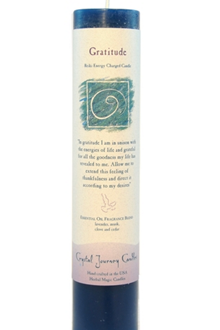 gratitude - reiki energy charged candle
