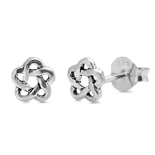 curvy star knot studs