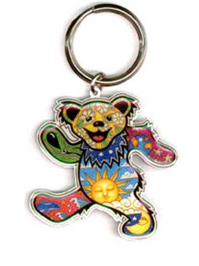 keyring | cosmic dancin' bear