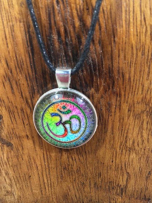 pewter series | colorful om pendant