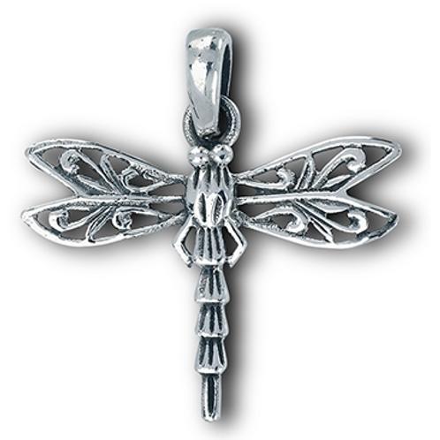 ornate dragonfly pendant
