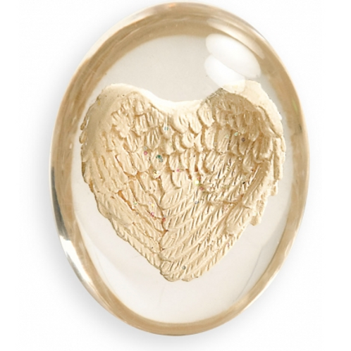 worry stone - angel wings
