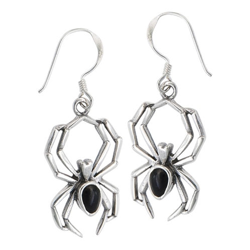 fauna series | black widow earrings