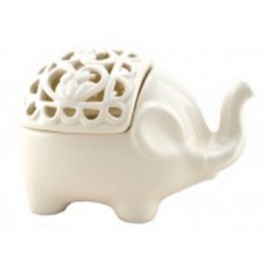 elephant candle holder + incense burner