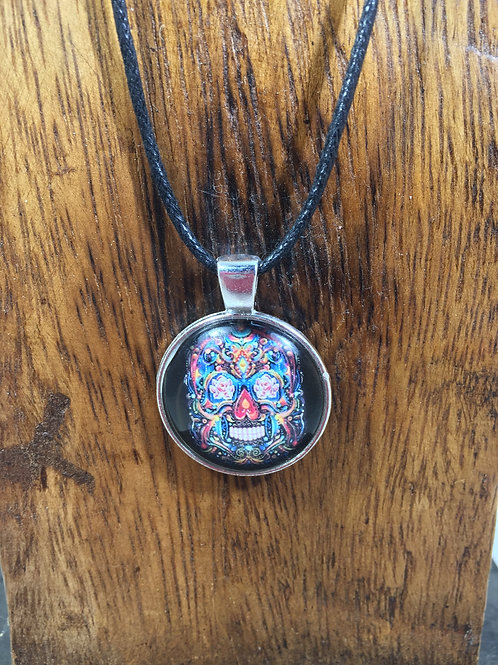 pewter series | day of the dead pendant