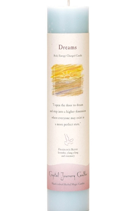 dreams - reiki energy charged candle