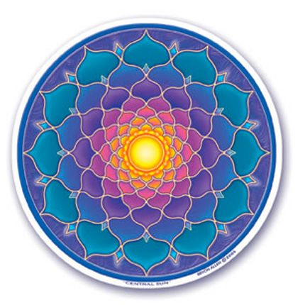 lotus | sun sticker