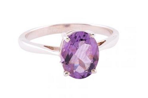 purple majesty amethyst solitaire