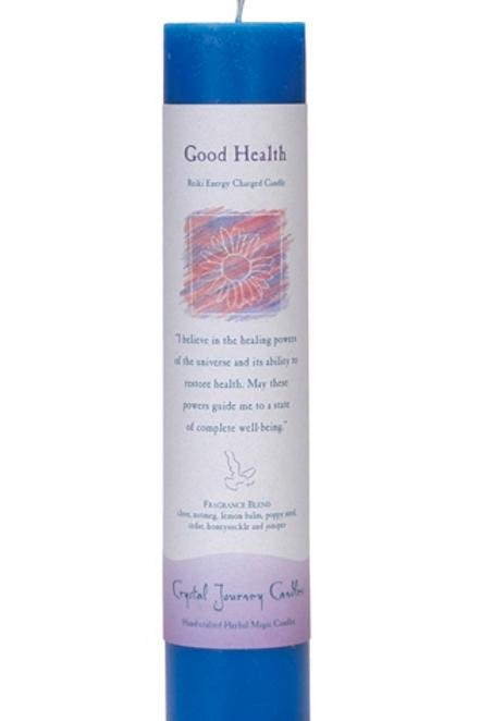 good health - reiki energy charged candle