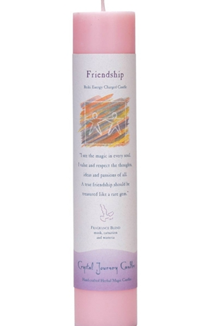 friendship - reiki energy charged candle
