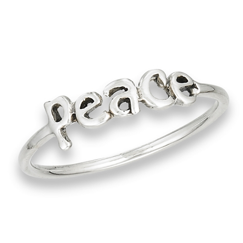 peace written ring