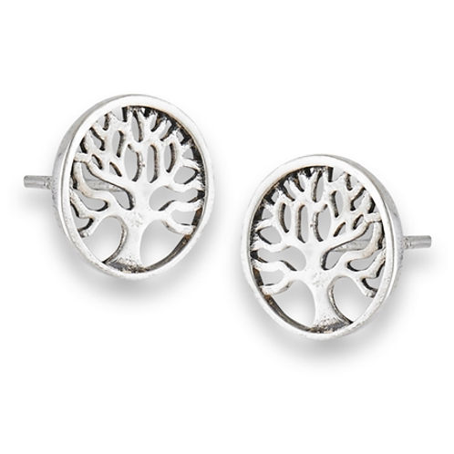 tree of life round open cut studs