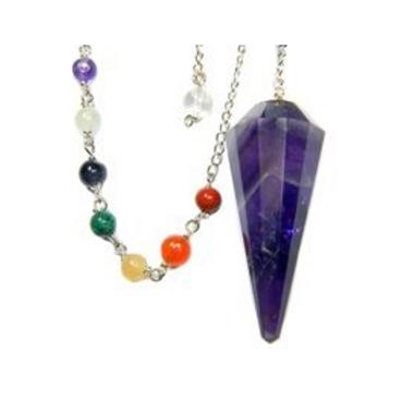 amethyst + chakra pendulum