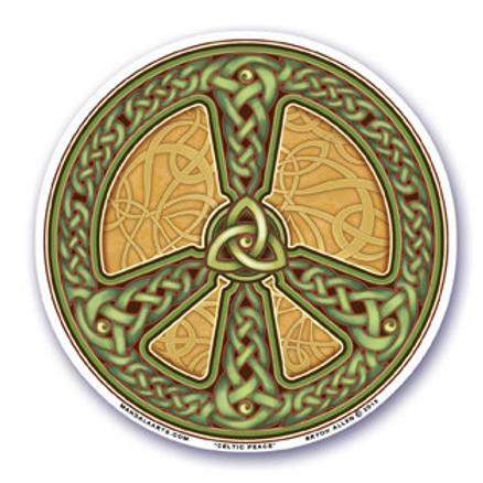 celtic peace sign sticker