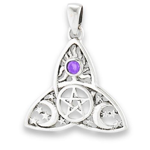 4 element series | triquetra + pentacle pendant