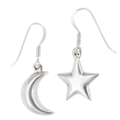 celestial series | moon + star dangles